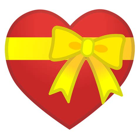 Heart with ribbon Icon | Noto Emoji People Family & Love
