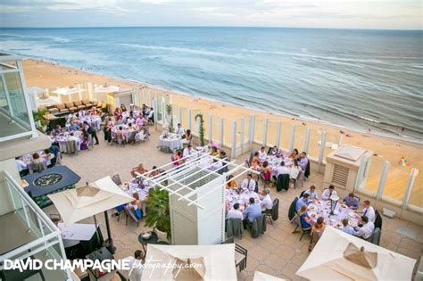 Outdoor reception on 10th floor sundeck at Oceanaire