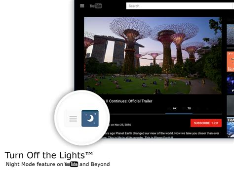 Turn Off the Lights for YouTube™ and Beyond – Add-ons for