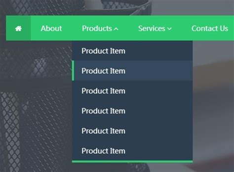 Flat Animated Dropdown Menu with jQuery and Animate