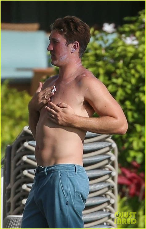 Miles Teller Shows Off His 'Top Gun' Physique on Vacation